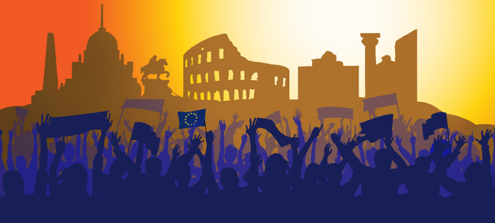 UNITEE at the March for Europe in Rome, 25 March