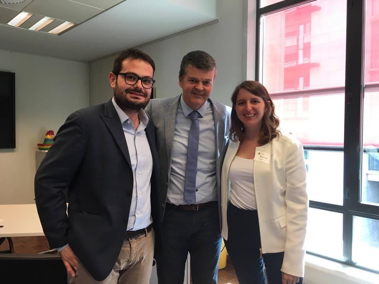 UNITEE's representatives with Bart Somers, mayor of Mechelen.